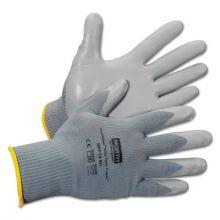 North Safety NFF13/9L Nitritask Foam Glove Grey Nylon Seamless Liner (12 PR)