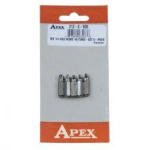 Apex 212-8-V05 Bit 1/4 Hex Drv Insert#8. T