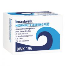 Boardwalk Foodservice 196 Pad Scour M-Dty 6 X 9 Gn (20 EA)