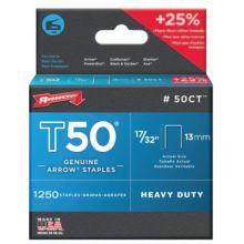 """Arrow Fastener 50CT 50000 T50 Ceiltile 17/32"""" Staples 1-250/Pk (1 PK)"""