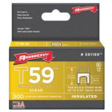 "Arrow Fastener 591189 5/16""X 5/16"" Insulated Staple Clear 300/Box"