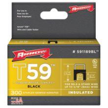 "Arrow Fastener 591189BL 5/16""X 5/16"" Insulated Staple Blk 300/Box"