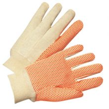 Anchor Brand 1090 Anchor Canvas Glove W/ Orange Pvc Dots (12 PR)