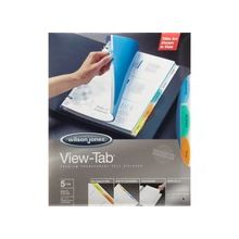 Wilson Jones® View-Tab® Transparent Dividers - 5 Print-on Tab(s) - 5 Tab(s)/Set - Transparent Polypropylene Divider - Multicolor Polypropylene, Transparent Tab(s) - 5 / Set