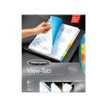 Wilson Jones® View-Tab® Transparent Dividers - 8 Print-on Tab(s) - 8 Tab(s)/Set - Transparent Polypropylene Divider - Multicolor Paper, Transparent Tab(s) - 8 / Set