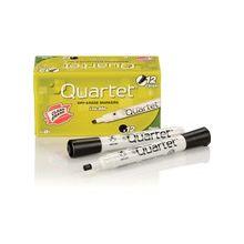 Quartet® Low Odor Dry-Erase Marker - Chisel Point Style - Black - 1 Dozen