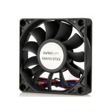StarTech.com Replacement 70mm Ball Bearing CPU Case Fan - TX3 Connector - Case fan - 70 mm - black - 70mm - 3500rpm Ball Bearing