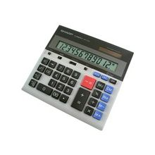 "Sharp QS2130 Commercial Display CalculatorQS2130 Commercial Display Calculator - Power OFF Memory Protection - 1 Line(s) - 12 Digits - LCD - Battery/Solar Powered - 0.7"" x 7.3"" x 6.9"" - Gray - 1 Each"