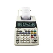 Sharp EL1750V Printing Calculator - Dual Color Print - 2 lps - Clock, Date, Calendar - 2 Line(s) - 12 Digits - LCD - Battery/Power Adapter Powered - 4 - AA - White - 1 Each