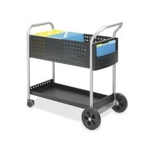 """Safco Scoot Mail Cart - 3"""" Caster Size - Steel - 22.5"""" Width x 39.5"""" Depth x 40.8"""" Height - Black"""