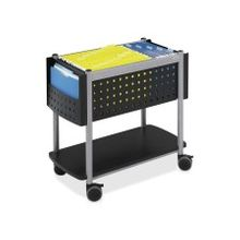 "Safco Scoot Open Top Mobile File - 1 Shelf - 200 lb Capacity - 4 Casters - Steel - 28"" Width x 14.8"" Depth x 26"" Height - Black"