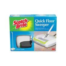 Scotch-Brite Quick Floor Sweeper - Rubber - White