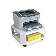 """Mead Hatcher Printer Stand - 75 lb Load Capacity - 2 x Shelf(ves) - 8.5"""" Height x 17.8"""" Width x 17.8"""" Depth - Desktop - Steel - Platinum"""