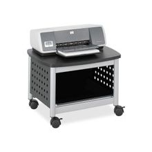 """Safco Scoot 1855BL Printer Stand - 100 lb Load Capacity - 14.5"""" Height x 20.3"""" Width x 16.5"""" Depth - Floor - Powder Coated Black - Steel, Particleboard - Black, Silver"""