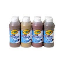 Crayola Washable Paint 8-Pack - 8 oz - 1 / Pack - Assorted, Peach, Tan, Beige, Bronze, Mahogany, Olive, Terra Cotta