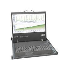 "Tripp Lite Rack Console Short-Depth KVM Cable Kit w/ 19"" LCD VGA 1U - 1 Computer(s) - 19"" Active Matrix TFT LCD - 1U Height"