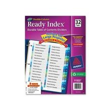 """Avery Double Column Index Divider - 32 Printed Tab(s) - Digit - 1-32 - 32 Tab(s)/Set - 8.50"""" Divider Width x 11"""" Divider Length - Letter - 3 Hole Punched - Multicolor Tab(s) - 32 / Set"""