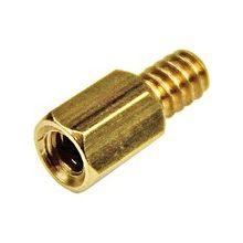 StarTech.com 6-32 Brass Motherboard Standoffs for ATX Computer Case - 15 Pack - Jackscrew Standoff - 15 / Pack