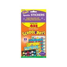 Trend School Days Variety Pack Sparkle Sticker - 432 - Acid-free, Non-toxic - Assorted - 1 Pack