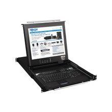 "Tripp Lite 16-Port Rack Console KVM Switch built in IP w/ 17"" LCD 1U TAA GSA - 16 Computer(s) - 17"" Active Matrix TFT LCD - 16 x HD-15 Keyboard/Mouse/Video - 1U Height"