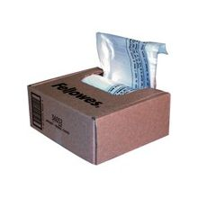 """Fellowes Waste Bags for Small Office / Home Office Shredders - 7 gal - 26"""" Height x 15"""" Width x 9"""" Depth - Clear"""