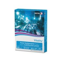 "Xerox Vitality Pastel Multipurpose Paper - Yellow - Letter - 8.50"" x 11"" - 20 lb Basis Weight - Recycled - 30% Recycled Content - 92 Brightness - 500 / Ream - Yellow"