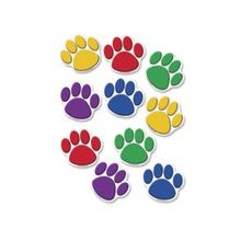 "Teacher Created Resources Colorful Paw Prints Accent - 8.50"" Height x 7"" Width - Assorted - 30 / Set"