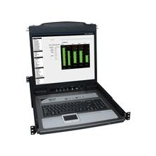 """Tripp Lite 8-Port Rack Console KVM Switch w/19"""" LCD & 8 PS2/USB Cables 1U - 8 Computer(s) - 19"""" - 8 x HD-18 Keyboard/Mouse/Video - 1U Height"""
