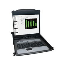 """Tripp Lite 16-Port Rack Console KVM Switch 19"""" LCD PS2/USB Cables 1U - 16 Computer(s) - 19"""" - 16 x HD-18 Keyboard/Mouse/Video - 1U Height"""