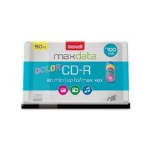 Maxell CD Recordable Media - CD-R - 48x - 700 MB - 50 Pack Spindle - 120mm - 1.33 Hour Maximum Recording Time