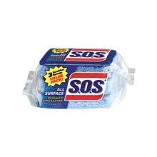 "Clorox S.O.S. Scrubbing Sponges - 4.5"" Height x 2.5"" Width x 9"" Thickness - 24/Carton - Scrim - Blue"