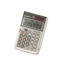 "Canon LS154TG Handheld Calculator - 12 Digits - LCD - Battery/Solar Powered - 0.4"" x 4.8"" x 3.1"" - Ebony - Plastic - 1 Each"