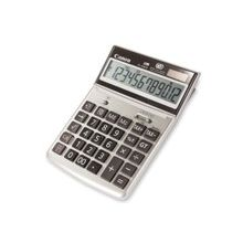 "Canon TS1200TG Tilt Display Calculator - Adjustable Display, Auto Power Off, Large LCD, Tilt Display, Dual Power - 12 Digits - LCD - Battery/Solar Powered - 1.1"" x 7.8"" x 5.3"" - Ebony - Plastic - 1 Each"