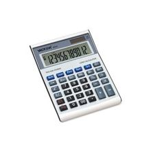 "Victor 6500 Loan Wizard Desktop Calculator - Independent Memory - 12 Digits - Battery/Solar Powered - 1.8"" x 5.8"" x 7.9"" - Silver - Plastic - 1 Each"