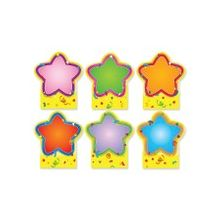 "Carson-Dellosa Quick Stick Star Good Work Holder - Self-adhesive - Reusable - 5"" Height x 5.75"" Width - Multicolor - 6 / Pack"