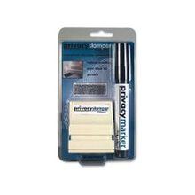 """Xstamper Small Security Stamper Kit - 0.50"""" Impression Width x 1.69"""" Impression Length - Black - 1 / Pack"""