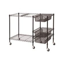 "Vertiflex Mobile File Cart - 3 Drawer - 4 Casters - Metal - 38"" Width x 15.5"" Depth x 28"" Height - Black"