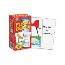 Carson-Dellosa CD-3913 U.S States & Capitals Flash Card - Educational