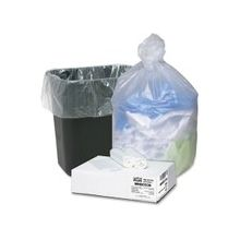 """Webster Ultra Plus High Density Trash Can Liner - Medium Size - 33 gal - 33"""" Width x 39"""" Length x 0.43 mil (11 Micron) Thickness - High Density - Natural - Resin - 100/Carton - Multipurpose"""