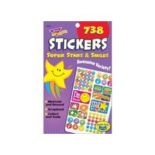 Trend Super Stars/Smiles Sticker Pad - Star, Smilies - Acid-free, Non-toxic - 1 / Pad
