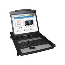 """Tripp Lite 8-Port Rack Console KVM Switch built in IP w/ 19"""" LCD 1U - 8 Computer(s) - 19"""" LCD - SXGA - 1280 x 1024 - 2 x USB - Keyboard - TouchPad - 1U High"""
