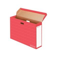 """Bankers Box Bulletin Board Storage Boxes - Internal Dimensions: 18.13"""" Width x 7.13"""" Depth x 27.88"""" Height - External Dimensions: 28.6"""" Width x 7.5"""" Depth x 19.1"""" Height - 50 lb - Flip Top Closure - Corrugated Paper - Red - For Bulletin Board - Recycled"""
