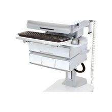 "Ergotron StyleView 97-576-053 Triple Drawer - 17.8"" Length x 13.5"" Width x 5"" Height - Aluminum, Plastic, Steel - White, Gray"