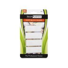 Baumgartens White Block Erasers 4-pk - Latex-free, Phthalate-free, Pliable, Residue-free - Plastic - 4/Pack - White