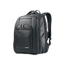 """Samsonite Xenon 2 Carrying Case (Backpack) for 15.6"""" Notebook - Black - Nickel, Polyester - Shoulder Strap, Handle - 17.3"""" Height x 12.3"""" Width x 8.3"""" Depth"""