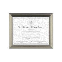 "Dax Antique-Colored Certificate Frame - 11"" x 8.50"" Frame Size - Rectangle - Desktop, Wall Mountable - Horizontal, Vertical - Antique Silver"
