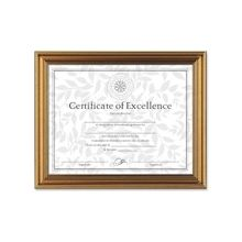 """Dax Antique-Colored Certificate Frame - 11"""" x 8.50"""" Frame Size - Rectangle - Desktop, Wall Mountable - Horizontal, Vertical - Antique Gold"""