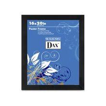 "Dax Black Wood Poster Frame - 16"" x 20"" x 0.75"" Frame Size - Rectangle - Wall Mountable - Vertical, Horizontal - Shatter Proof, Lightweight - Wood, Styrene - Black"