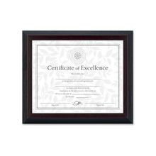 """Dax 2-tone Stepped Edge Document Frame - 10"""" x 8"""" Frame Size - Rectangle - Wall Mountable, Desktop - Solid Wood - Walnut"""