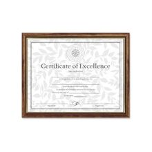 """Dax Two-tone Certificate Frame - 11"""" x 8.50"""" Frame Size - Rectangle - Wall Mountable - Vertical, Horizontal - Durable - Solid Wood - Maple, Gold"""